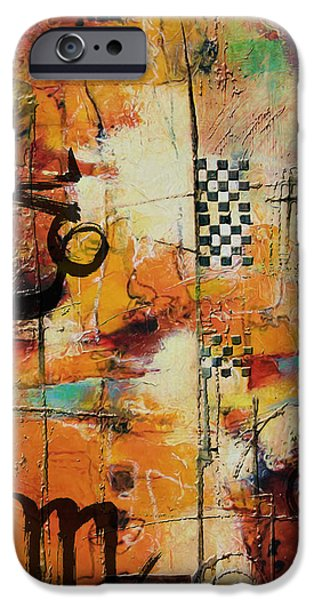 Virgo iPhone Cases - Abstract Tarot Art 010 iPhone Case by Corporate Art Task Force