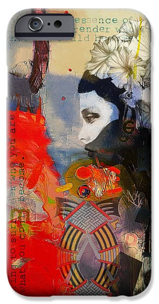 Virgo iPhone Cases - Abstract Tarot Art 011 iPhone Case by Corporate Art Task Force