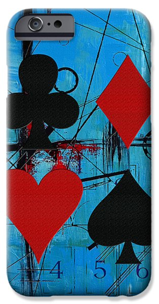 Abstract On Canvas Paintings iPhone Cases - Abstract Tarot Art 012 iPhone Case by Corporate Art Task Force