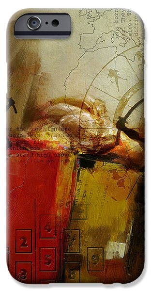 Virgo iPhone Cases - Abstract Tarot Art 014 iPhone Case by Corporate Art Task Force