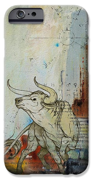Virgo iPhone Cases - Abstract Tarot Art 017 iPhone Case by Corporate Art Task Force