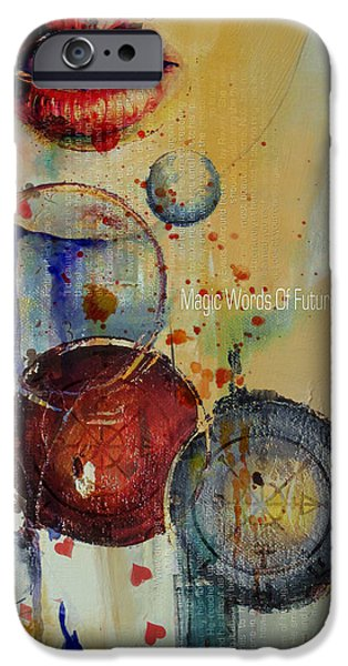 The Sun God iPhone Cases - Abstract Tarot Art 021 iPhone Case by Corporate Art Task Force