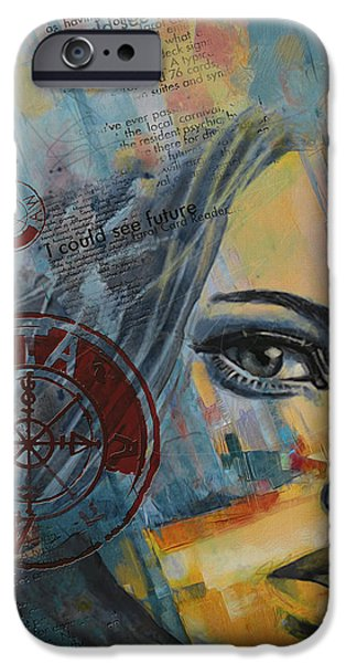 The Sun God iPhone Cases - Abstract Tarot Art 022a iPhone Case by Corporate Art Task Force