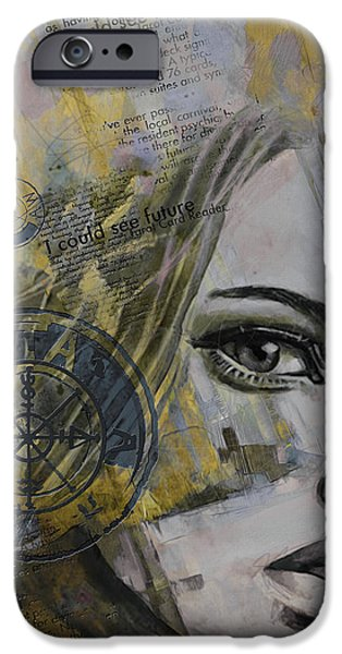 The Sun God iPhone Cases - Abstract Tarot Art 022b iPhone Case by Corporate Art Task Force