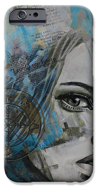The Sun God iPhone Cases - Abstract Tarot Art 022c iPhone Case by Corporate Art Task Force