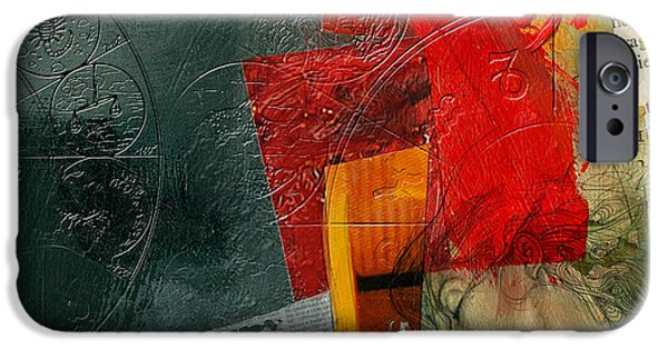 Esoteric iPhone Cases - Abstract Tarot Card 004 iPhone Case by Corporate Art Task Force