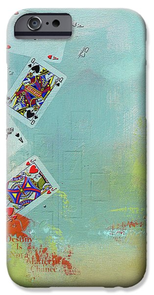 Abstract Tarot Card 009 iPhone Case by Corporate Art Task Force