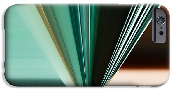 Technology iPhone Cases - Abstract - Teal - Aqua - Five iPhone Case by Kathy K McClellan