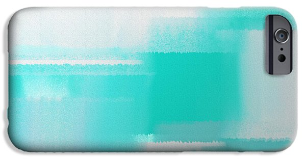 Design iPhone Cases - Abstract Teal Square iPhone Case by Andee Design