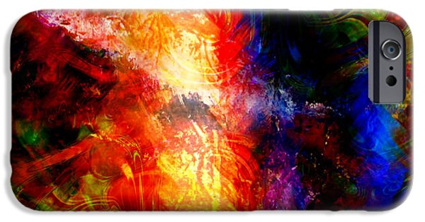 Timeless Design Paintings iPhone Cases - Abstract Tears iPhone Case by Ally  White