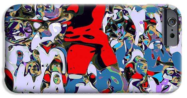 Federer iPhone Cases - Abstract Tennis iPhone Case by Chris Butler