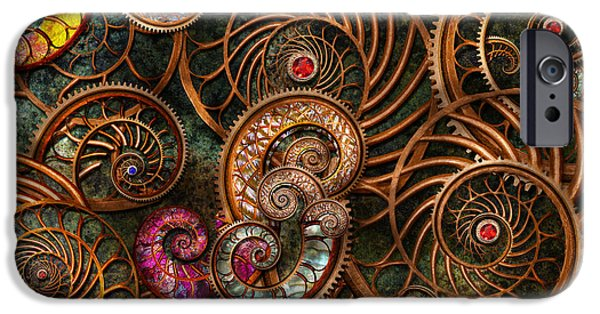 Tendrils iPhone Cases - Abstract - The wonders of Sea iPhone Case by Mike Savad