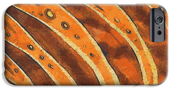 Business iPhone Cases - Abstract tiger stripes iPhone Case by Pixel Chimp