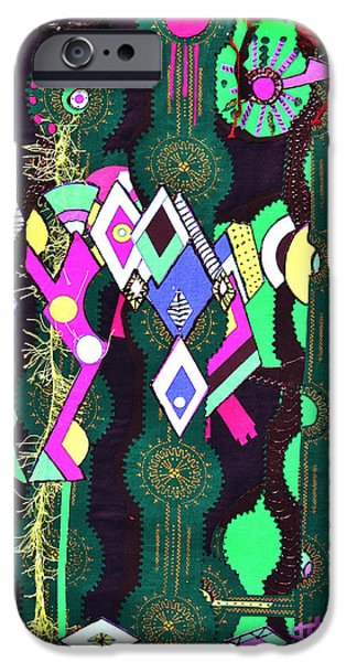 Colorful Abstract Tapestries - Textiles iPhone Cases - Abstract Warriors iPhone Case by Ruth Yvonne Ash