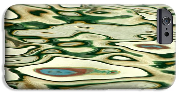 Modern Abstract iPhone Cases - Abstract Water Reflection  - 157 iPhone Case by Andrew  Hewett