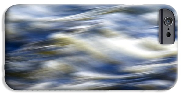 Nature Abstract iPhone Cases - Abstract Waves iPhone Case by Christina Rollo