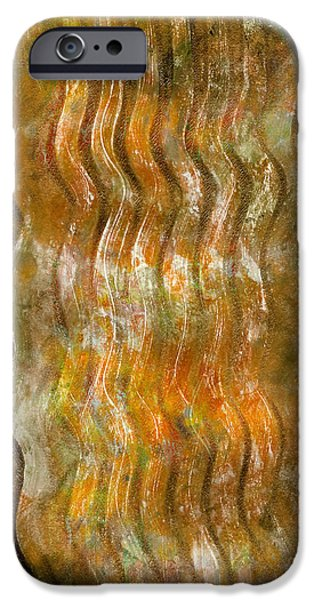 Pen And Ink iPhone Cases - Abstract Waves iPhone Case by Laura L Leatherwood