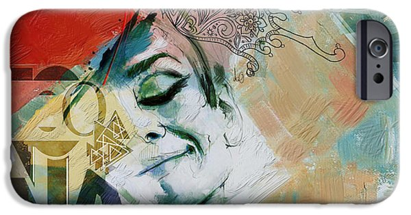 Abstract Expressionism iPhone Cases - Abstract Women 008 iPhone Case by Corporate Art Task Force