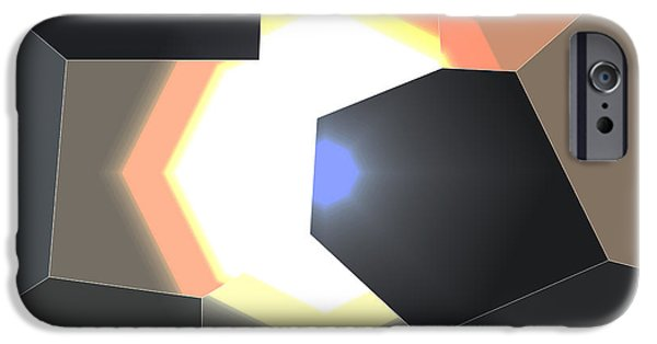 Abstract Digital Photographs iPhone Cases - Abstract work iPhone Case by Dave Byrne