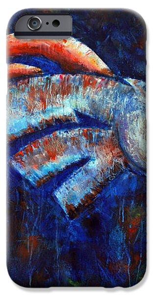 Abstracted Bronco iPhone Case by Jennifer Morrison Godshalk