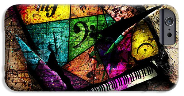 Grand Piano iPhone Cases - Abstracta_04 Grand Illusion iPhone Case by Gary Bodnar