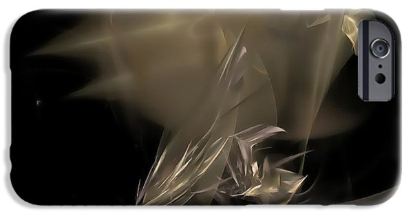 Abstracts Ceramics iPhone Cases - Abstraction 0151 marucii iPhone Case by Marek Lutek