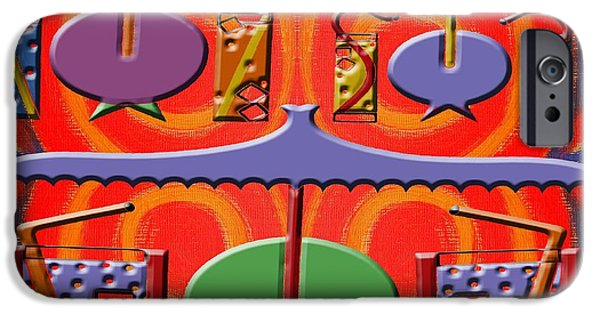 Shade Cover iPhone Cases - Abstraction 177 iPhone Case by Patrick J Murphy