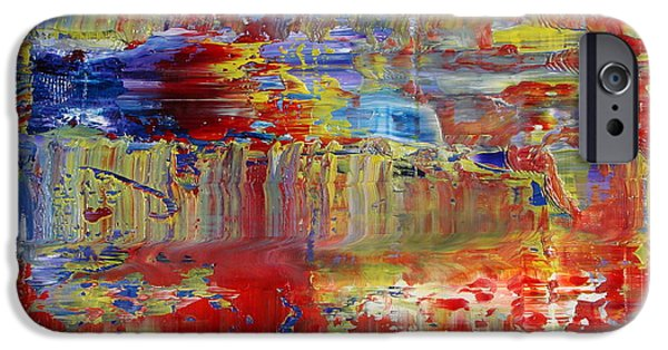 Recently Sold -  - Abstract Expressionist iPhone Cases - Abstraction and Air iPhone Case by Daniel Johnstone