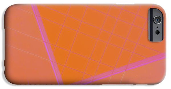Abstractions iPhone Cases - Abstraction in Pink iPhone Case by Carol Leigh