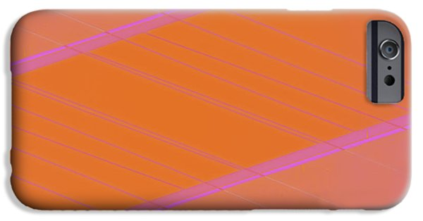 Abstractions iPhone Cases - Abstraction in Pink Number 2 iPhone Case by Carol Leigh