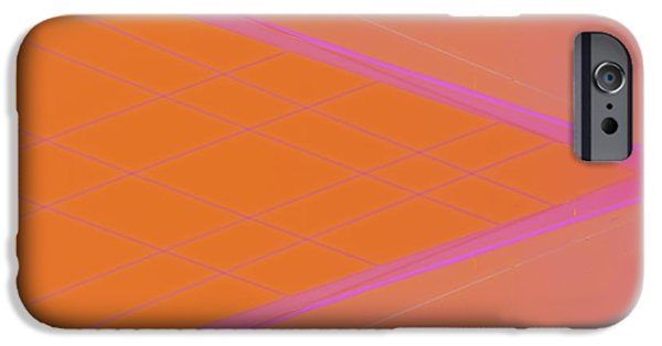 Abstractions iPhone Cases - Abstraction in Pink Number 3 iPhone Case by Carol Leigh