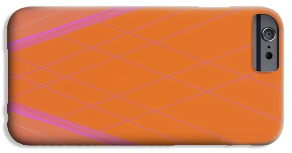 Abstractions iPhone Cases - Abstraction in Pink Number 4 iPhone Case by Carol Leigh