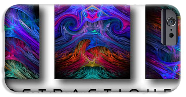 Abstract Digital Photographs iPhone Cases - Abstractique 3 iPhone Case by Mike Nellums