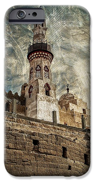 Antiquated iPhone Cases - Abu Haggag Mosque iPhone Case by Erik Brede