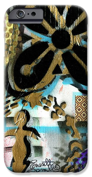 Jacob Lawrence iPhone Cases - Abundance iPhone Case by Everett Spruill