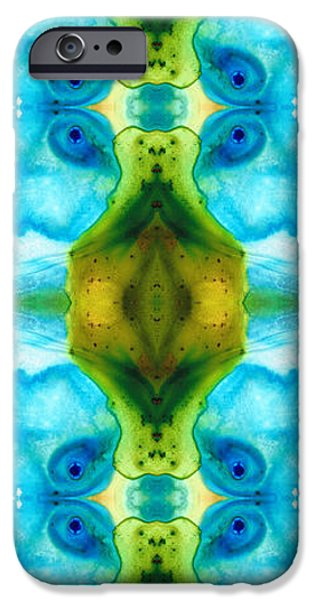 Modern Abstract iPhone Cases - Abundant Life - Pattern Art by Sharon Cummings iPhone Case by Sharon Cummings
