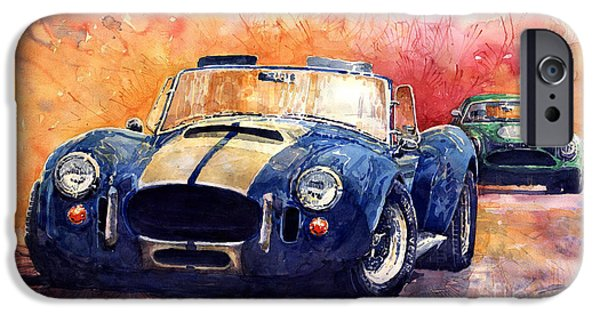 Cars iPhone Cases - AC Cobra Shelby 427 iPhone Case by Yuriy  Shevchuk