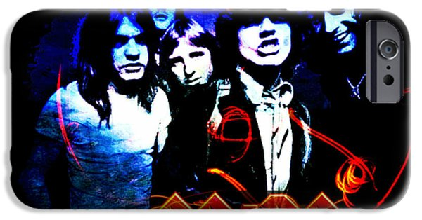 Recently Sold -  - Red Rock iPhone Cases - Ac/dc  iPhone Case by Absinthe Art By Michelle LeAnn Scott