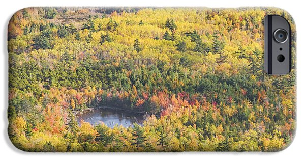 Maine iPhone Cases - Acadia National Park - Mount Desert Island -Fall Foliage- Maine iPhone Case by Keith Webber Jr