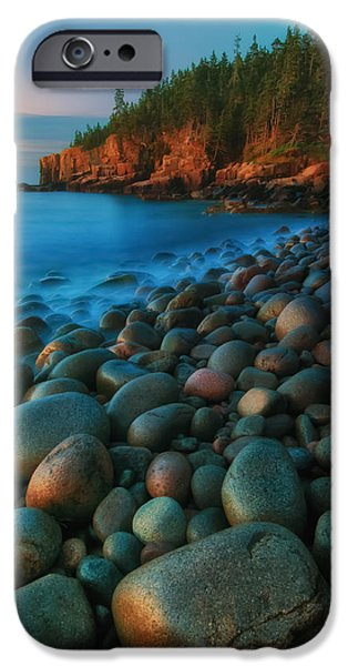 Gulf Of Maine iPhone Cases - Acadian Dawn - Otter Cliffs iPhone Case by Thomas Schoeller