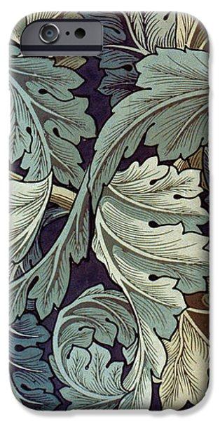 Fabric Tapestries - Textiles iPhone Cases - Acanthus Leaf Design iPhone Case by William Morris