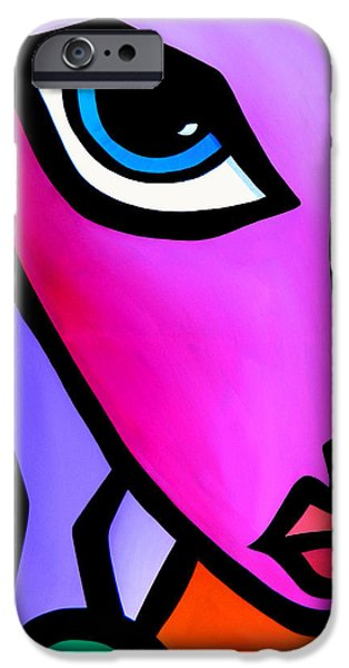 Dog Abstract Art iPhone Cases - Accent iPhone Case by Tom Fedro - Fidostudio