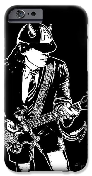 Black Angus iPhone Cases - ACDC No.03 iPhone Case by Caio Caldas