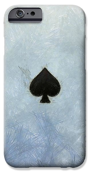 The Houses Mixed Media iPhone Cases - Ace Of Spades iPhone Case by Dan Sproul