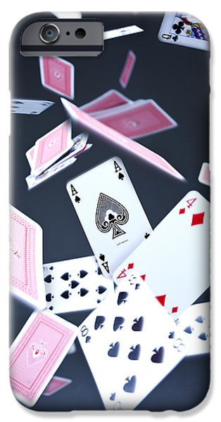 Ace of Spades iPhone Case by Samuel Whitton