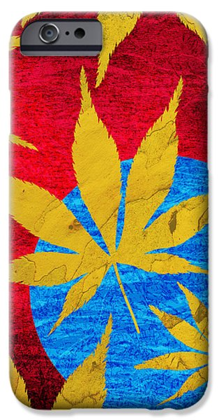 Acer leaves blue iPhone Case by Tim Gainey