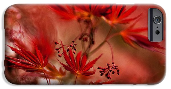 Red Abstract iPhone Cases - Acer Storm iPhone Case by Mike Reid