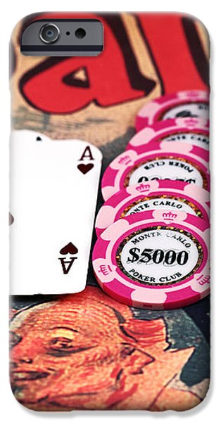 Aces in Paris iPhone Case by John Rizzuto