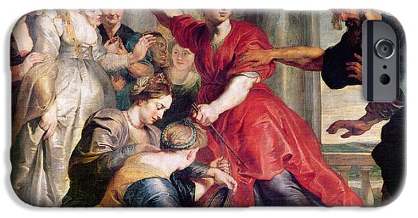 Greek iPhone Cases - Achilles Discovered By Odysseus, C.1617 Oil On Canvas iPhone Case by Peter P. Rubens