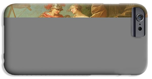 Classical iPhone Cases - Achilles Leaving To Avenge The Death Of Patroclus Oil On Canvas iPhone Case by Etienne Jeaurat